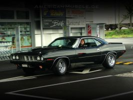 black.71.barracuda by AmericanMuscle