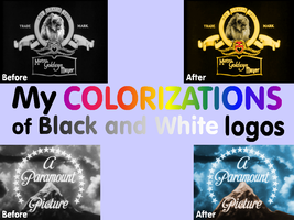 My Colorizations of Black and White logos by MalekMasoud