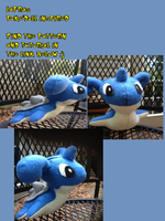 Poke'doll inspired Lapras (tutorial and pattern) by Kurosakou
