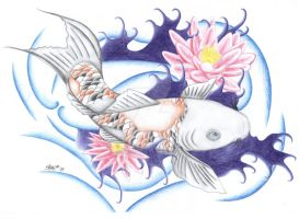 Koi Fish Tattoo Design by Dirtbag-Star
