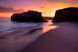 Sunset at Natural Bridges by Adrant