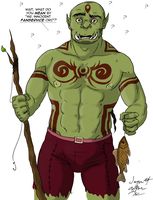 Rets'nis the Innocent Fanservice Orc by ImagenAshyun