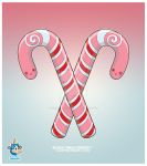 Kawaii Pink Candy Canes by KawaiiUniverseStudio
