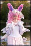 Sailor Sylveon Cosplay: Straightening My Bow by Mink-the-Satyr