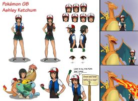 Pokemon Gender Bender - Ashley - Character Sheet by TheMightFenek