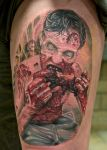 Walking dead zombie tattoo by graynd