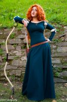Merida Cosplay in Lucca comics by Solipsis79