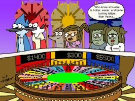 Regular Show Sweetheart Week on Wheel by DJgames