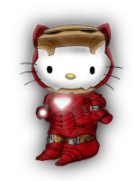 Avengers / Hello kitty deviation- IRON MAN by Crow-Dreamer