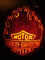Harley Davidson Flame Pumpkin by DistantVisions