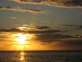 Reunion Island - Sunset by ixecuter