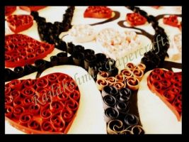 Valentine's day quilling by Rajlakshmi