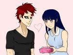 Gaara and Hinata St. Valentines day by Eureka-Lawliet