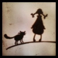 The Girl and the Cat. by Lillehanna