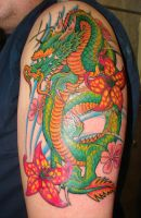 japanese dragon tattoo by asussman