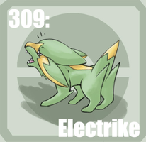 309 Electrike by Pokedex