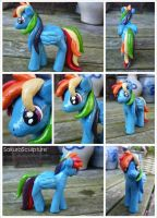 Rainbow Dash Sculpture by SakuraSculpture