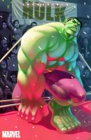 hulk in pink by numbo