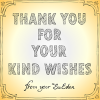 Thank you for your kind wishes card image by sw-eden