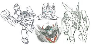 TFP: Magnus and Wheeljack sketches by Succubii