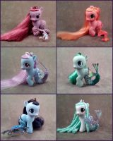 MLP G4 custom filly merponies by hannaliten