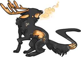Liquid wolf deer design thing by MUTTD0G