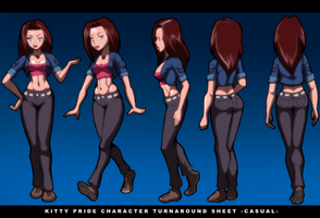 Kitty Pryde Character Turnaround Sheet by Severflame