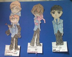Ouran Bookmarks by caged-birds