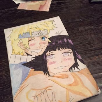 Naruto and hinata  by dakotaaaaaa-chan