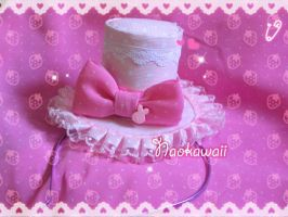 Pink sweet lolita minihat by Naokawaii