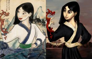 Disney Princess meme Mulan by guad