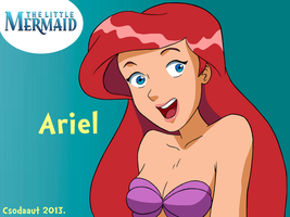 TLM - Ariel in Marathon Cartoon style by Csodaaut