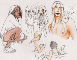 Colored Sketches.. by VictoriaMelissa