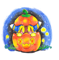 Alien in a Pumpkin by PaperLillie