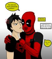 Superboy and Deadpool by ForsytheFrontier