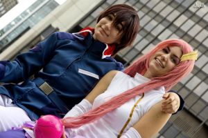 Lacus and Kira by jujub