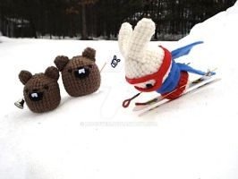 Plush Olympics: Skiing by MoonYen