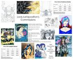 +~LadyJuxtaposition's COMMISSIONS INFO~+ by LadyJuxtaposition