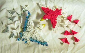 Custom Loftwing Kanzashi Pair by EruwaedhielElleth