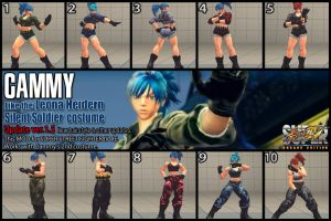 Cammy - Leona costume MOD v1.5 10color by dsFOREST