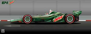 Indycar 2012 - 64 Mountain Dew DW12 by hanmer