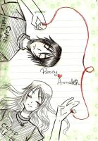 Sketch - Percy and Annabeth by LitaOliveira
