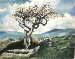 fourth oil painting..landscape by kasblue