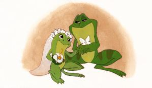 Princess and The Frog Wedding by CheiftainMaelgwyn
