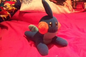 Mudkip custom plush by Kitamon