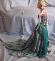 Elsa OOAK Doll from Frozen Fever by kara023