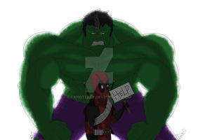 HulkvDeadpool by Fangterry