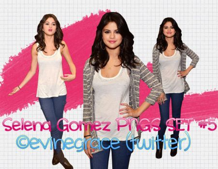 Selena Gomez PNGS set 5 by evinegrace