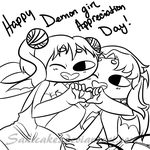 .::C::. Happy Demon Girl Appreciation Day! by SakiCakes
