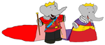 King Babar and Queen Celeste - Kids - Anniversary by KingLeonLionheart